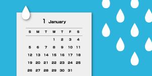 お風呂に貼れるカレンダー
